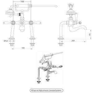 Notte Bath shower mixer kit