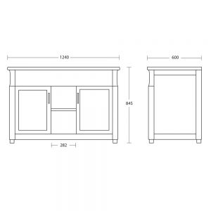 Westbury Twin 2 Door Unit with Glass Shelves