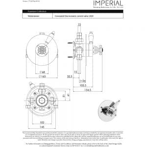 Concealed Westminster Thermostatic Control Valve